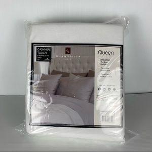 Shang-La Linen White Cashmere Ultra-Soft Flannelette Sheet Set Size Queen